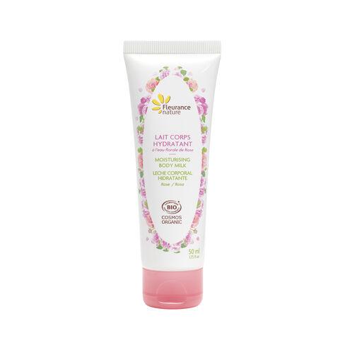 Lait corps hydratant à l'eau florale de rose cosmétique bio