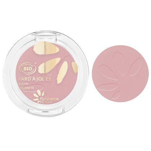 Fard à joues rose tendre cosmétique bio