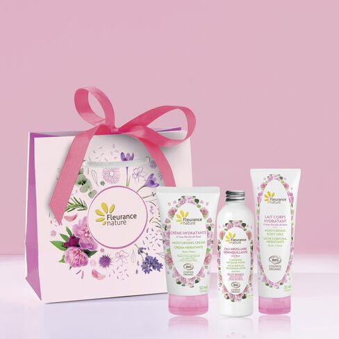 Coffret trio hydratation rose cosmétique certifié bio