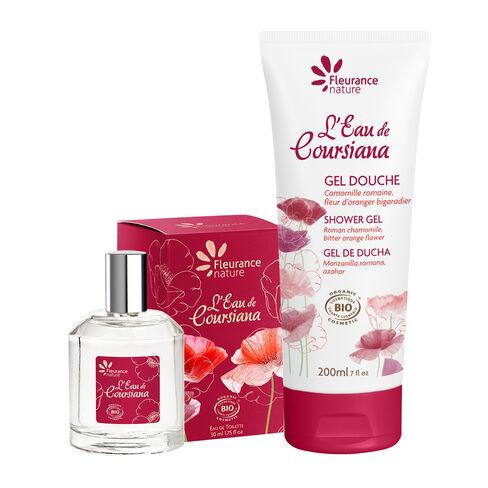 Duo gel douche & parfum l'eau de coursiana cosmétique bio
