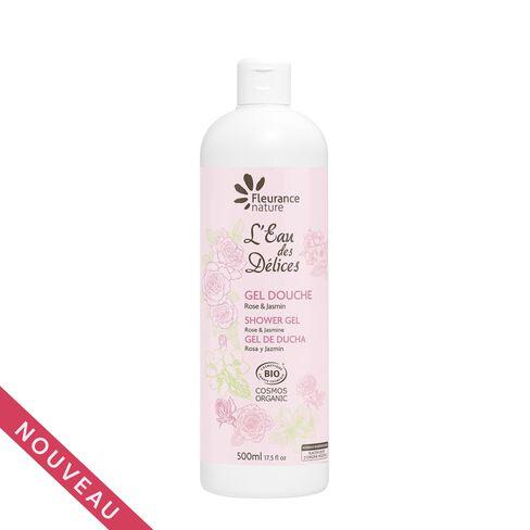 Gel douche eau des délices rose et jasmin bio