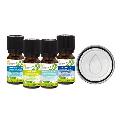 Kit pour diffusion d'huiles essentielles complément alimentaire bio