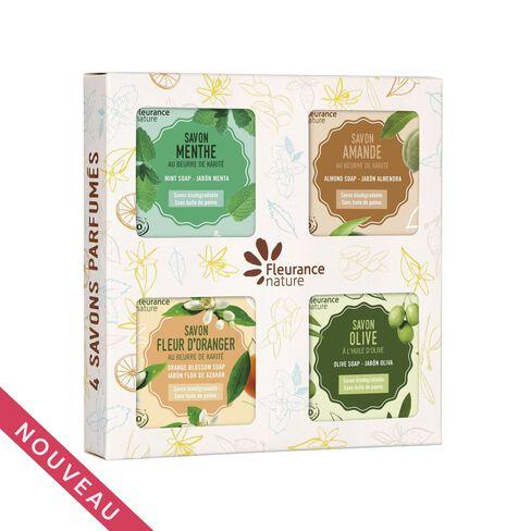 Coffret de 4 savons parfumés cosmétique bio