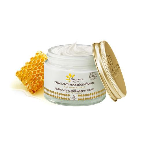 Crème anti-âge régénérante cosmétique bio