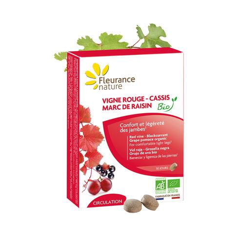 Vigne Rouge - Cassis - Marc de raisin complément alimentaire bio
