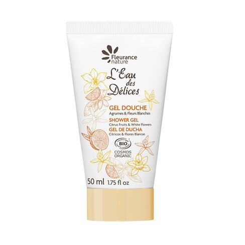 Gel douche à l'Eau des Délices Agrumes & Fleurs blanches cosmétique bio