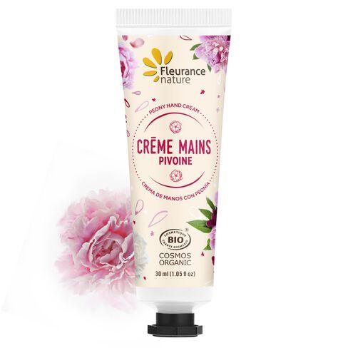 Crème mains à la pivoine cosmétique bio
