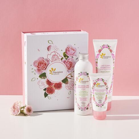 Coffret rose délicate cosmétique bio