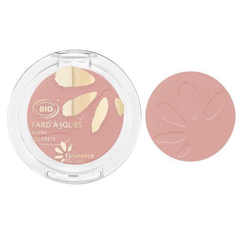 Fard à joues rose pêche cosmétique bio