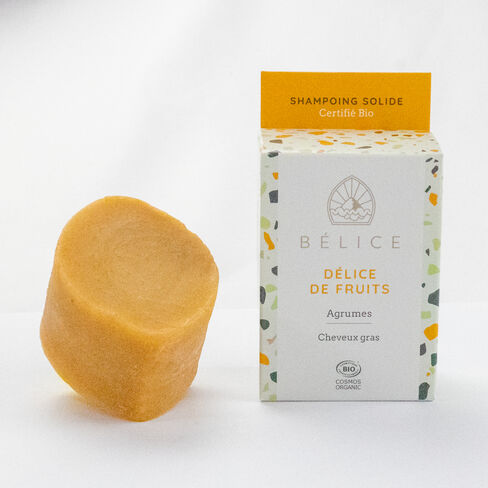 Bélice Shampoing solide Délice de fruits cosmétique bio