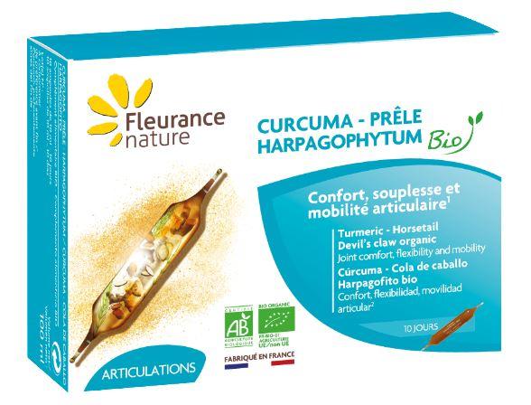 Ampoules de Curcuma - Harpagophytum - Prêle