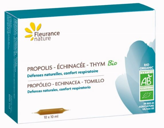 Ampoules Propolis Echinacee Thym