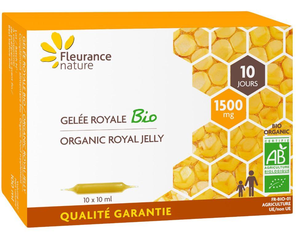 Ampoules de Gelée royale Bio 1500 mg