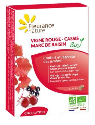 Vigne rouge - Cassis - Marc de raisin Bio